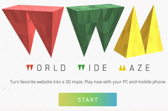 Turn Your Favorite Website Into a 3D Maze With World Wide Maze By Google