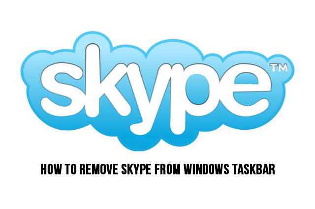How to remove Skype from the Windows taskbar?