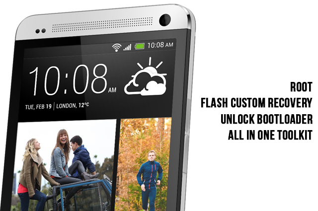 How To Root, Flash Custom Recovery and Unlock Bootloader Your HTC One With This All In One Toolkit