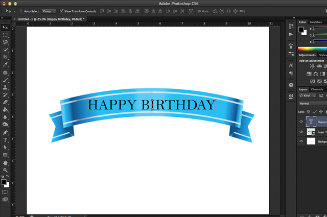 how to create a warped text using photoshop