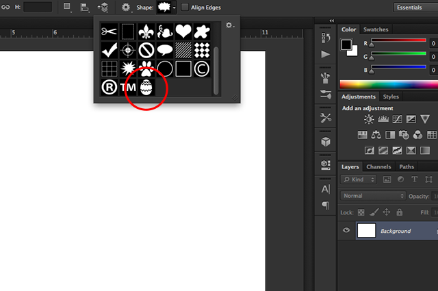 Save Custom Shapes as Presets in Photoshop