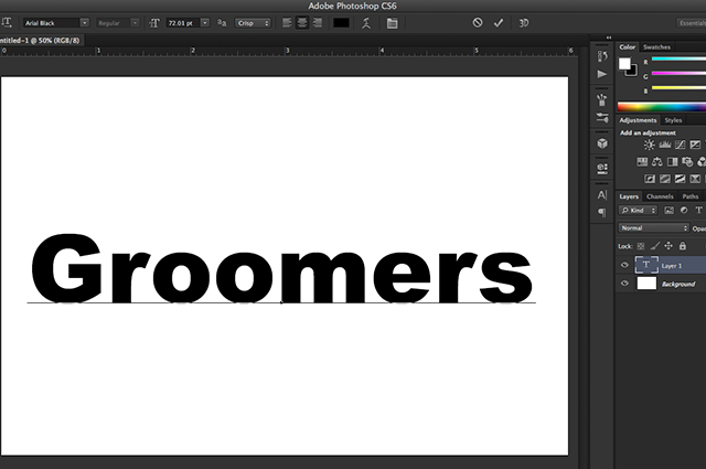create text logos with shapes