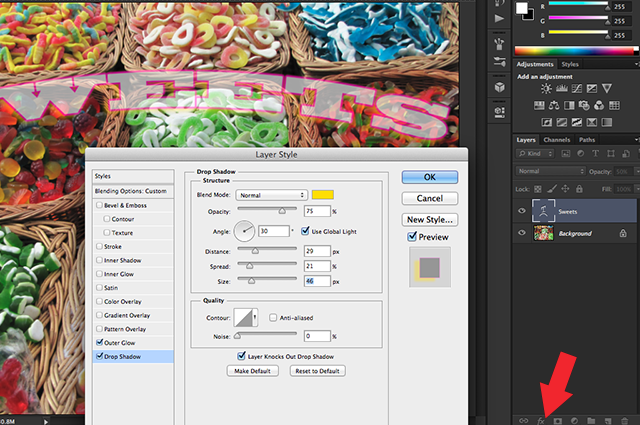 layer opacity vs fill in photoshop 5