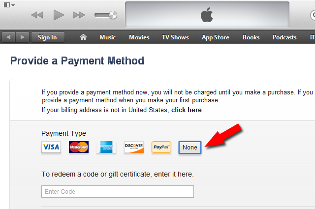 Create US iTunes Account Without Credit Card