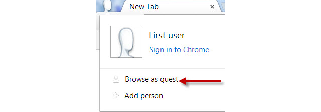 browse in google chrome guest mode 5
