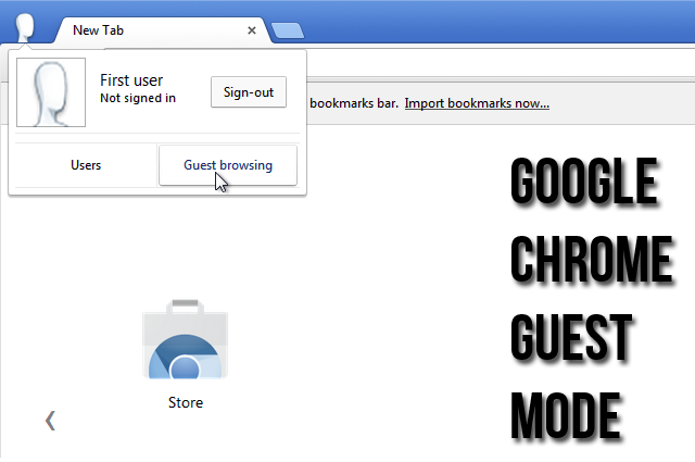 Browse in Google Chrome Guest Mode