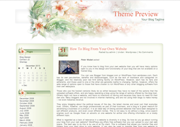 Free WordPress Themes for Ladies