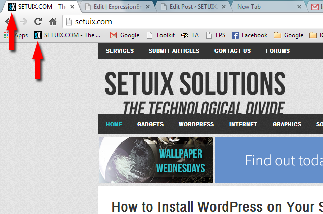 How to Create Favicon for WordPress