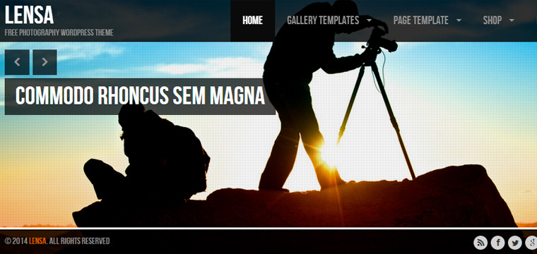 Photography Inspired WordPress Themes