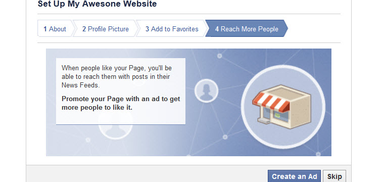 how to create facebook page link