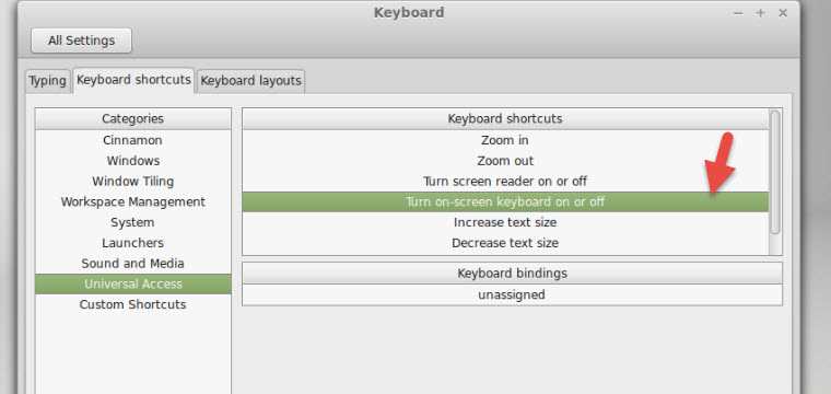 Add or Change Keyboard Shortcuts in Linux Mint