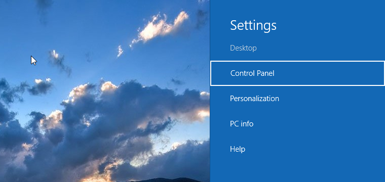 The Charms Bar in Windows 10