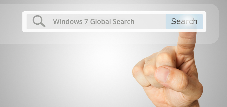 Global Search from Start Menu in Windows 7